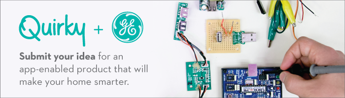 Submit your idea for an app-enabled product that will make your home smarter